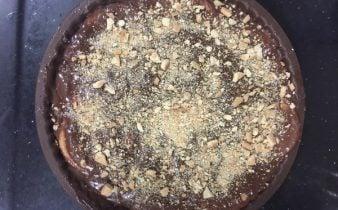 Marquesa de chocolate con galletas Maria y leche condensada