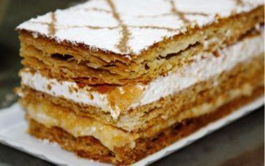 Receta de milhojas de crema pastelera