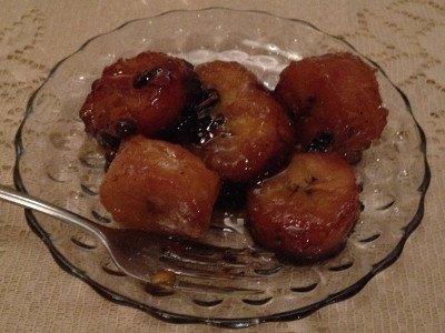 Receta de dulce de plátano maduro
