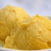 Receta de helado de mango con leche condensada