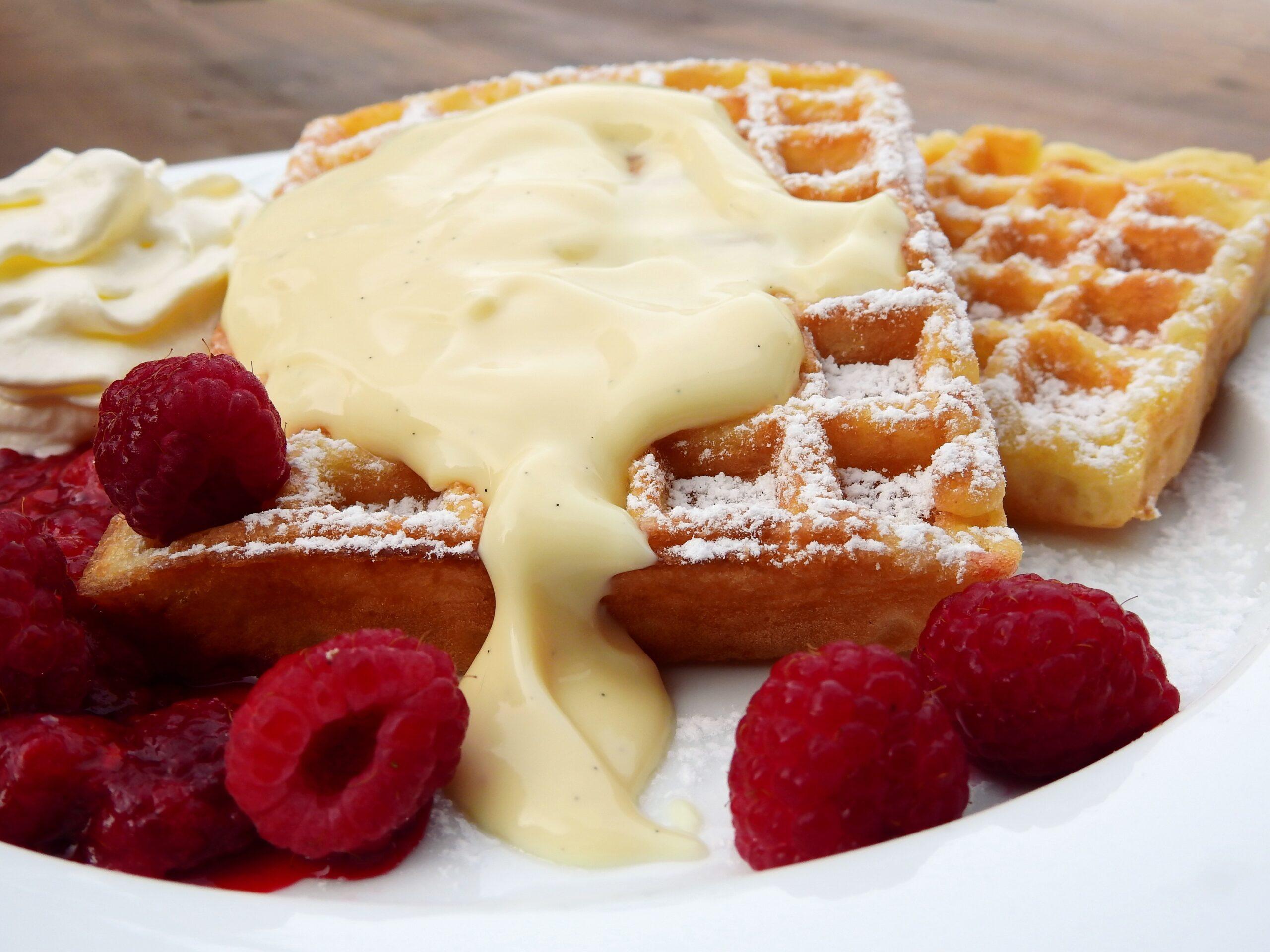 Receta de Waffles caseros en 4 pasos